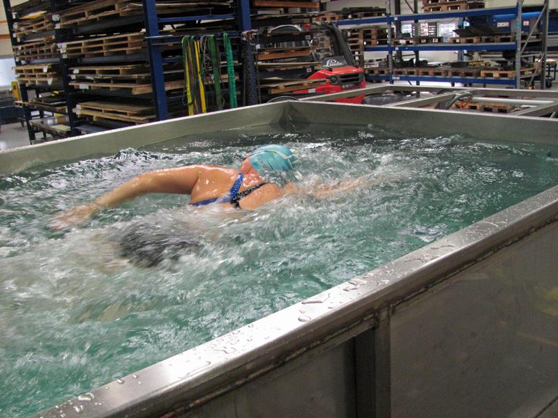 Testschwimmen in unserer Werkshalle : Ortner Blechbearbeitung ...